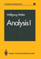 Analysis I PDF