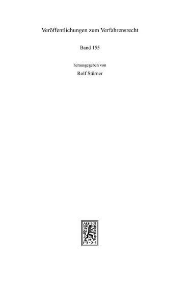 Der Emergency Arbitrator und die ZPO PDF