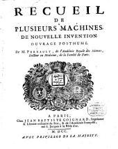 Recueil de plusieurs machines de nouvelle invention