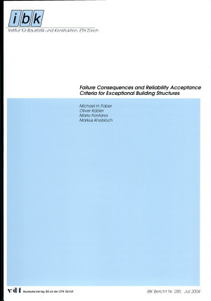 Failure Consequences and Reliability Acceptance Criteria for Exceptional Building Structures