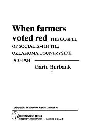When Farmers Voted Red