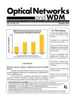 Optical Networks WDM Monthly Newsletter October 2010 PDF
