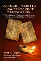 Aramaic Peshitta New Testament Translation PDF