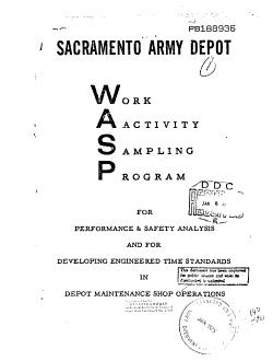 Work Activity Sampling Program  WASP  PDF