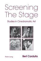 Screening the Stage PDF