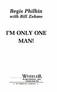 I m Only One Man  Book