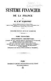 Système financier de la France: Volume3