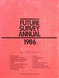 Future Survey Annual 1986 Book PDF