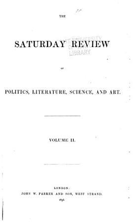 Saturday Review of Politics  Literature  Science and Art PDF