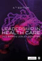 Leadership in Health Care PDF