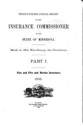 Annual Report of the Insurance Commissioner of the State of Minnesota