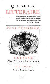 Choix littéraire: Volumes3à4