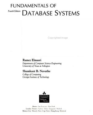 Fundamentals of Database Systems PDF