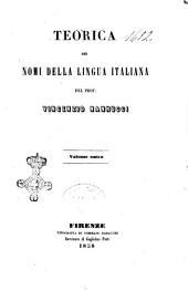 Teorica dei nomi della lingua italiana Vincenzio Nannucci