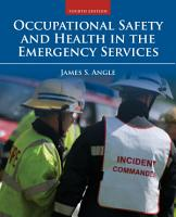 Occupational Safety and Health in the Emergency Services PDF