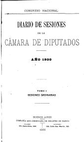 Diario de sesiones: Volumen 1