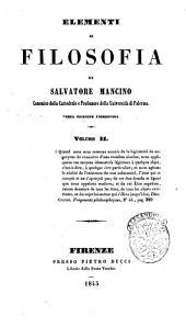 Elementi di filosofia: Volume 2