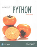 Starting Out With Python Global Edition
