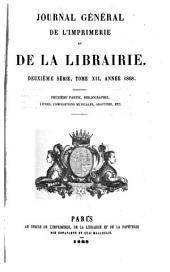 Journal général de l'imprimerie et de la librairie: Volume57
