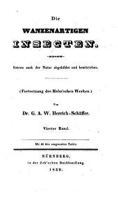 Die wanzenartigen Insecten: Band 4