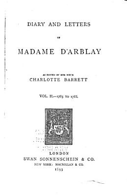 The diary and letters of Madame D Arblay PDF
