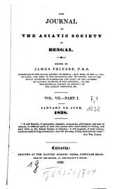 Journal of the Asiatic Society of Bengal: Volume 7, Part 1