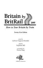 Britain by Britrail 2001
