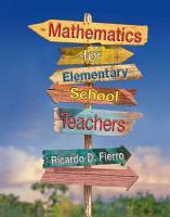 Mathematics for Elementary School Teachers PDF