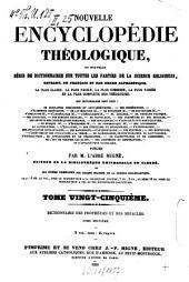 Dictionnaire des prophéties et des miracles: précédé d'une intord. en forme de dissertation préliminaire sur les véritables prophéties ... et suivi du tableau général des prophéties bibliques. L - Z, Volume2