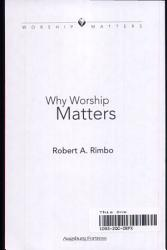 Why Worship Matters Book PDF