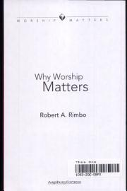 Why Worship Matters