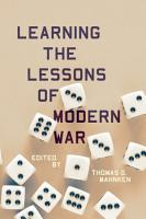 Learning the Lessons of Modern War PDF