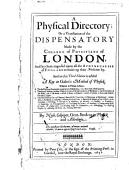 A Physical Directory Or A Translation Of The Dispensatory In This Third Edition Is Added A Key To Galen S Method Of Physick By Nich Culpeper