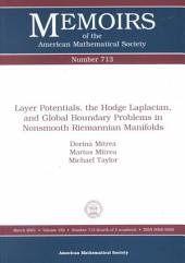 Layer Potentials, the Hodge Laplacian, and Global Boundary Problems in Nonsmooth Riemannian Manifolds