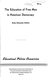 The Education of Free Men in American Democracy  Study discussion Outline PDF