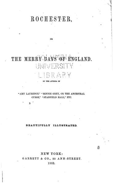 Download Rochester  Or The Merry Days of England Book