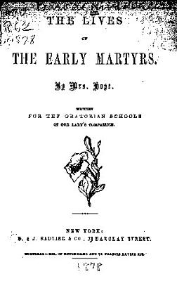 The Lives of the Early Martyrs