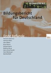 Bildungsbericht für Deutschland: Erste Befunde