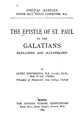 The Epistle of St  Paul to the Galatians PDF