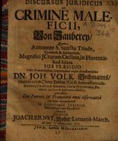 Discursus iuridicus de crimine maleficii: Von Zaubery