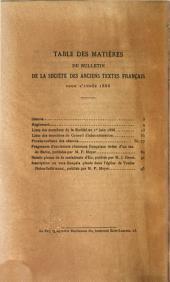 Bulletin de la Société des anciens textes français: Volumes10à12