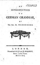 An Introduction to German Grammar PDF