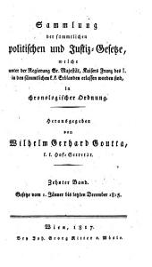 Sammlung der Gesetze, welche unter der glorreichen Regierung des Kaisers Franz des Zweyten in den sämmtlichen k.k. Erblanden erschienen sind: Band 35