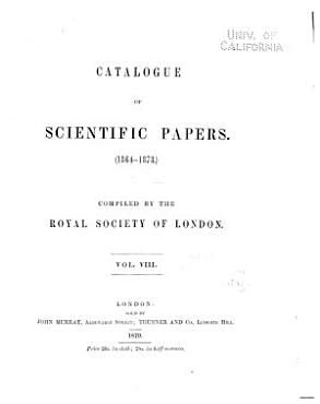 Catalogue of Scientific Papers  1800 1900   ser  2   1864 1873 PDF