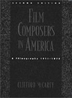 Film Composers in America PDF