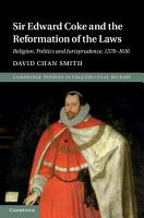 Sir Edward Coke and the Reformation of the Laws PDF