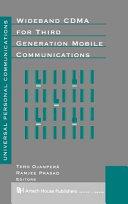 Wideband CDMA for Third Generation Mobile Communications PDF