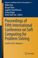 Proceedings of Fifth International Conference on Soft Computing for Problem Solving PDF