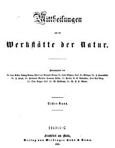 Mittheilungen aus der Werkst  tte der Natur PDF