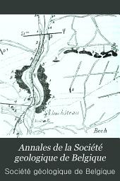 Annales de la Société geologique de Belgique: Volumes26à31